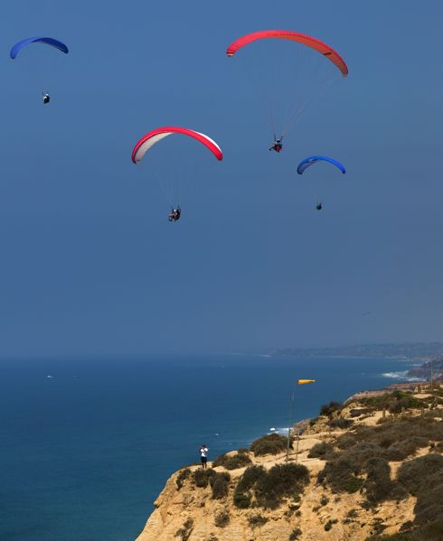 Paragliding at Torrey Pines